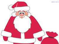 Santa Clause Cartoon Character, New Year Item, Saint Nicholas, Father Christmas, Kris Kringle, Christmas, Vector Clipart, Images Example, Vector Images